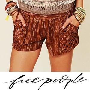 Free People New Romantics Ikat Lattice Shorts 4